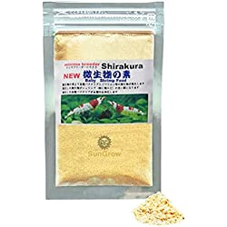 Shirakura Baby Shrimp Food - Essential Yellow Micro-organism Powder for Proper Nutrition Digestion and Immune Support - Only 1 in 10 Baby Shrimp reach Adulthood - TRIPLE the Survival Rate