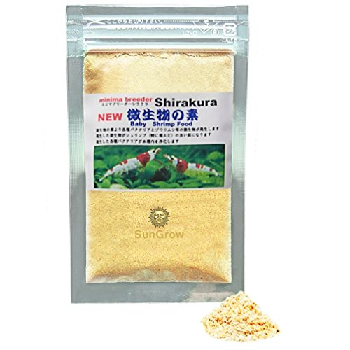 Shirakura Baby Shrimp Food - Essential Yellow Micro-organism Powder for Proper Nutrition Digestion and Immune Support - Only 1 in 10 Baby Shrimp reach Adulthood - TRIPLE the Survival (Baby Shrimp)