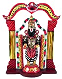 DollsofIndia Lord Venkateshwara (Kondapalli Doll) - Wood Statue - 9 x 8 x 3 inches