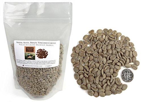 Brazil Santa Izabel Microlot - Volcano Coffee Green Unroasted Beans, 1 LB