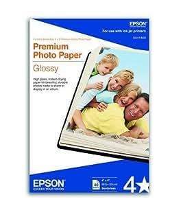 Epson Premium 4 x 6 Inch Glossy Photo Paper- 40 Count (S041808)
