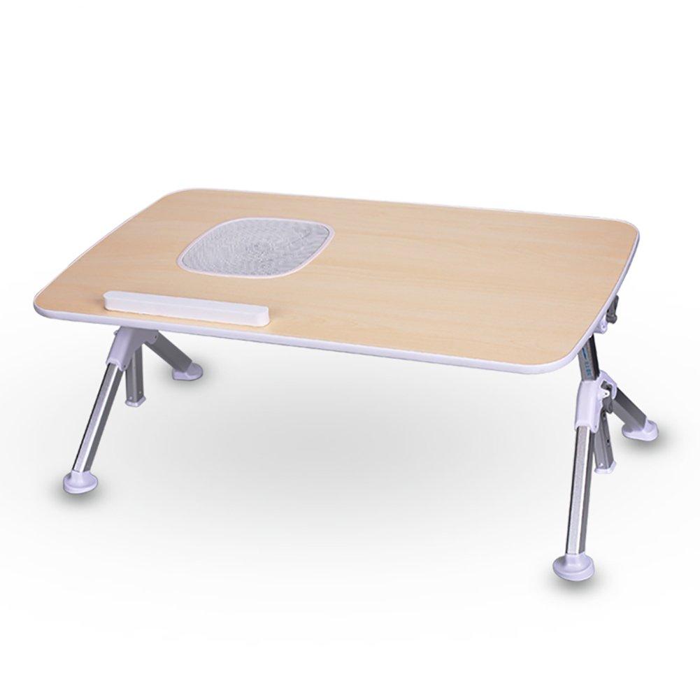 YXX- 小さな木製の折り畳みテーブルコンピュータデスク(ファン&調節可能な高さ)脚とデスクトップポータブルスクエア折りたたみテレビダイニング&コーヒー&ティーテーブル (サイズ さいず : 70*40cm) B07DSD1HB4  70*40cm