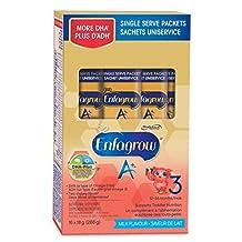 Enfagrow A+ Single Serve Powder Packets, Milk Flavour, 18g, 16 pack