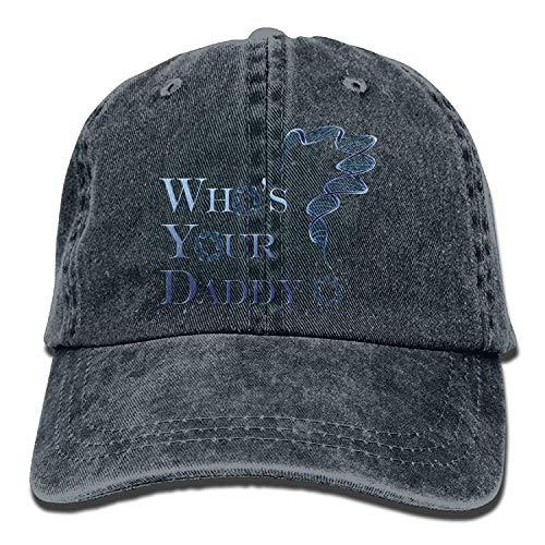 DEFFWB Hat Who's Your Daddy Denim Skull Cap Cowboy Cowgirl Sport Hats for Men Women