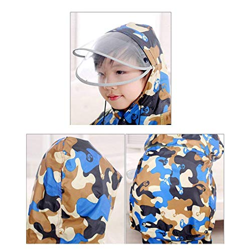 Camping Raincoat Waterproof Outdoor Raincover Targogo Kids Gelb Ciclismo Poncho Hooded Rain Travelling Rainwear Hiking P4x5qdgw
