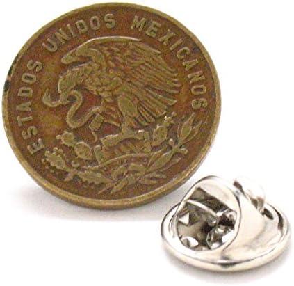 Pasador de solapa para corbata de México con cierre de escudo de la moneda de águila mexicana de California: Amazon.es: Juguetes y juegos