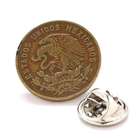 Pasador de solapa para corbata de México con cierre de escudo de ...