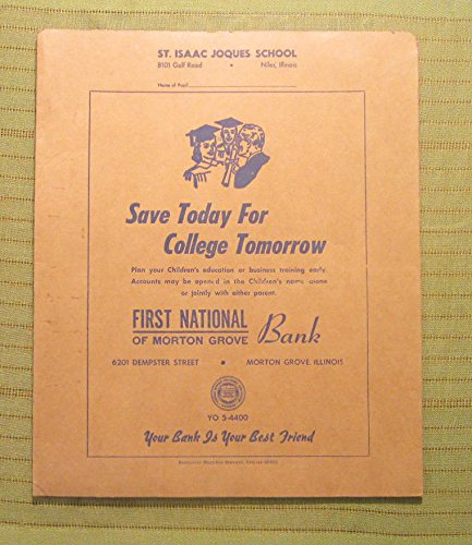 Vintage First National Bank Of Morton Grove  Illinois Advertising Folder