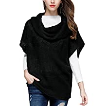 Women Short Sleeve Turtleneck Knitted Hollow Out Sweater Cover-Ups Top