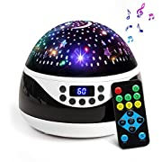 #LightningDeal 2019 Newest Baby Night Light, AnanBros Remote Control Star Projector with Timer Music Player, Rotating Star Night Light 9 Color Options, Best Night Lights for Kids Adults and Nursery Decor