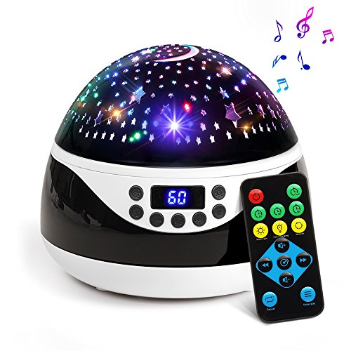 2018 NEWEST Baby Night Light, AnanBros Remote Control Star Projector with Timer Music Player, Rotating Constellation Night Light 9 Color Options, Best Night Lights for kids Adults and Nursery Decor Plays Music Lights