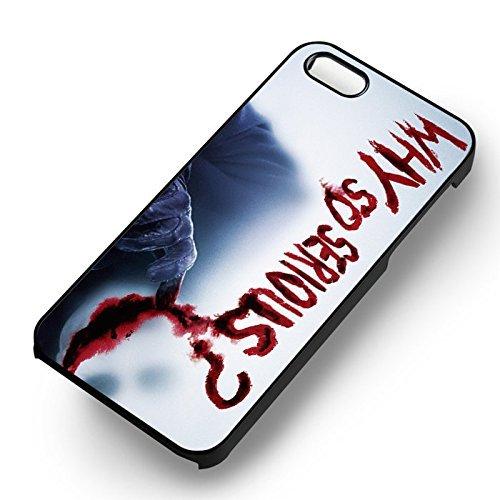 Chic Joker Serious pour Coque Iphone 7 Case (Noir Boîtier en plastique dur) T3Q9PY