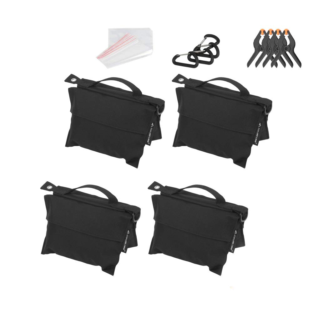 Photography Sand Bag Professional Saddle Weight Bag for Photo Video Studio Stand, Without Sand (4 Pack)