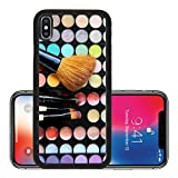 ebay cosmetics - Liili Premium Apple iPhone X Aluminum Backplate Bumper Snap Case IMAGE ID: 20460418 Cosmetic palette with a lot of vivid bright colors and brushes