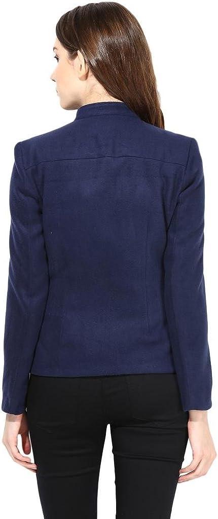 Felt Jacket In Navy Blue Color
