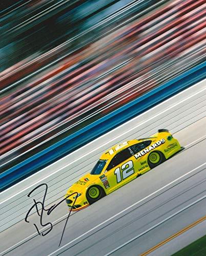 Ryan Blaney Autographed Photograph - 8X10 COA A - Autographed NASCAR Photos