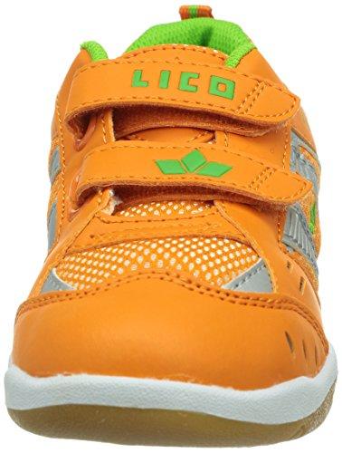 Lico Indoor V 360290 - Zapatillas de deporte de nailon para niños naranja - Orange (orange/grün)