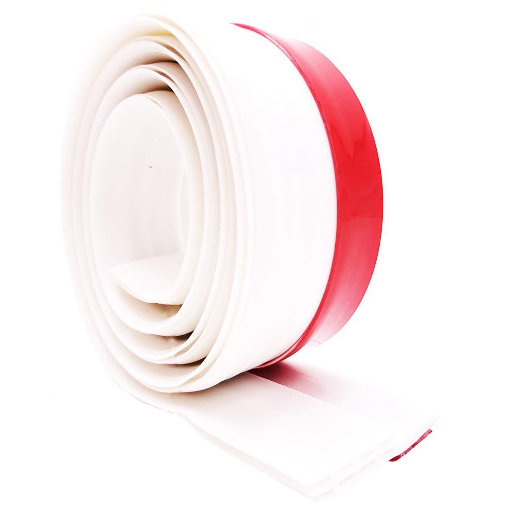 VRPOWER (2 Pack) Door Draft Stopper, Strong Door Sweep with Strong Adhesive, Premium Weather Stripping, Door Under Seal Soundproof, Noise Stopper (2'' W x 39'' L)