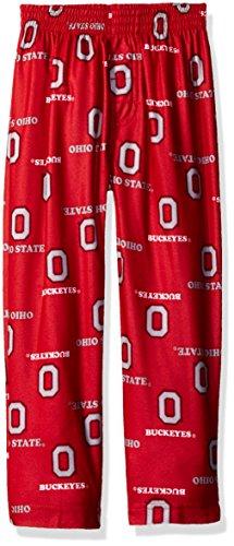 Ohio State Buckeyes Print (NCAA Ohio State Buckeyes Toddler Boys Sleepwear All Over Print Pants, Size 2T, University Red)