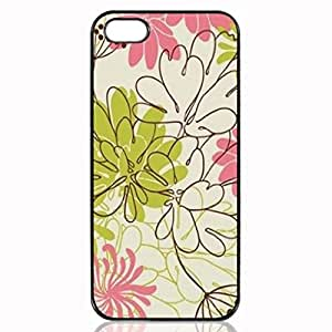Chic Flowers Pattern Custom Hard Plastic back cell Phones Case for Apple iphone5 - iphone 5s Case Cover