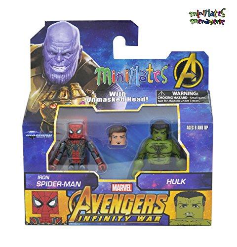 (Minimates Marvel Avengers Infinity War Iron Spider-Man & Hulk Minifigures)