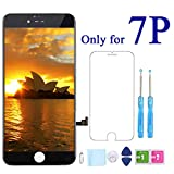 Screen Replacement for iPhone 7 Plus Black 5.5'' LCD Display 3D Touch Digitizer Frame Assembly Full Repair Kit and Screen Protector