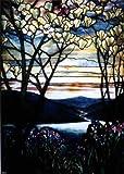 Louis Comfort Tiffany Magnolias and Irises - 18.1'' x 27.1'' Premium Canvas Print Gallery Wrapped