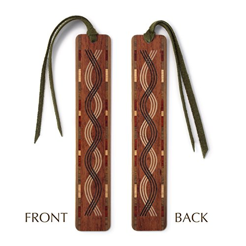 Triple Curve (Triple Curve Cut out- Engraved Wooden Bookmark with Tassel)