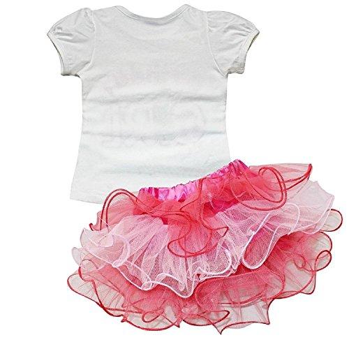 EGELEXY Baby Girls Little Princess T-Shirt and Petticoat Skirt 2-Piece Outfit