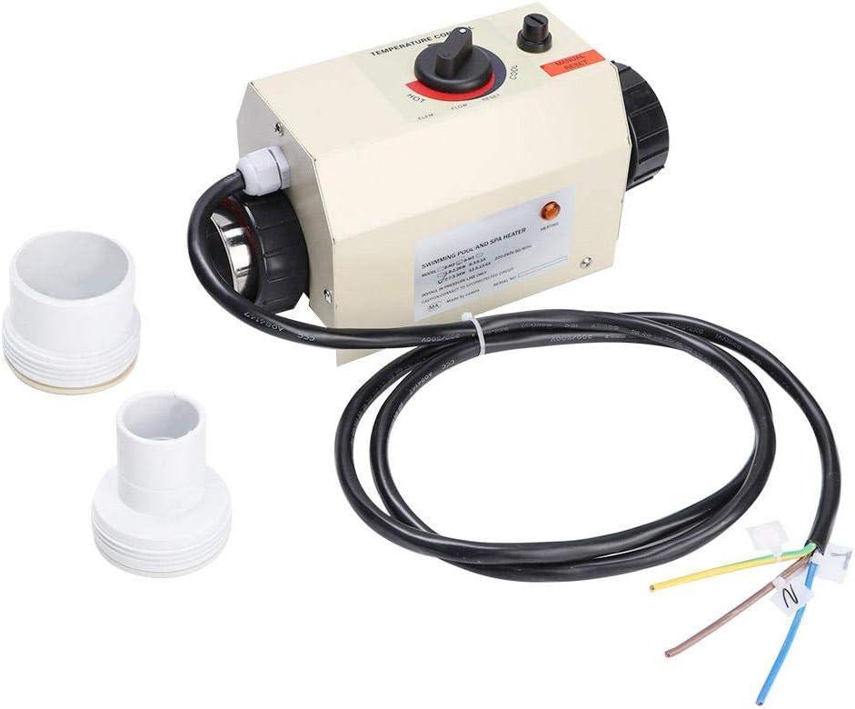 Calentador de piscina, 3KW Mini termostato de calentador de agua para piscina Bañera de hidromasaje SPA Bath(UE)