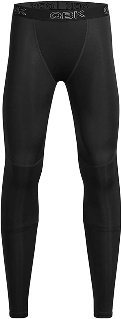 Youth Compression Pants Boys Leggings Base Layer with Double Layer Thick Material: Clothing