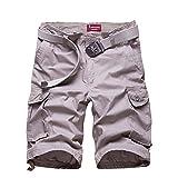 J-SUN-7 Men's Cotton Loose Fit Multi Pocket Cargo Shorts