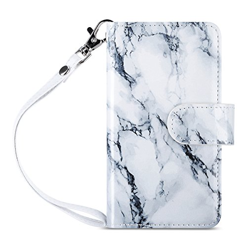 ULAK iPhone SE Case, iPhone 5S Case, Marble iPhone 5s/5/SE Wallet Case, Fashion PU Leather Magnet Wallet Flip Case Cover with Built-in Credit Card/ID Card Slots for 5 5s SE,Artistic-Marble Pattern