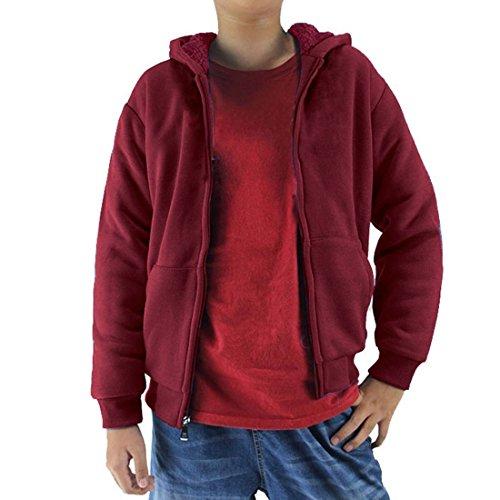 red hooded zip up sweatshirt - 7