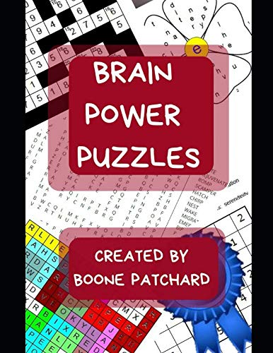 Brain Power Puzzles: Activity Book of Word Searches, Sudoku, Math Puzzles, Hidden Words, Anagrams, Scrambled Words, Codes, Riddles, Trivia, Jokes, Boggle Boards, Mazes and More
