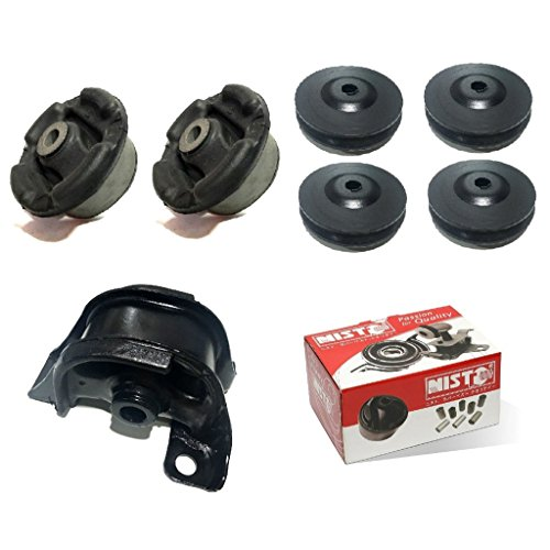 NISTO 7 Rear Differential Arm Mounting Bushing Top Support Repair Kit For 1997-2001 Honda CR-V