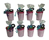 Spa Day Birthday Party Pre-Filled Favor Kit Goodie Bag For Girls With Nail Supplies And More - Set of 8