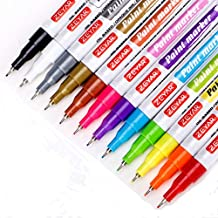 ZEYAR Paint Pens, Oil-Based, Extra Fine Point,12 Metallic and Bright Colors, Odorless, Expert of Rock Painting, Xylene Free, Metal Penholder, Professional Paint Marker Manufacturer