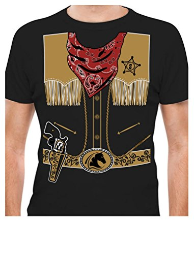 TeeStars - Cowboy Halloween Easy Costume Outfit T-Shirt