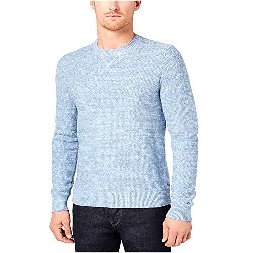 Tommy Hilfiger Men's Textured Stripe Sweater Blue Size Large