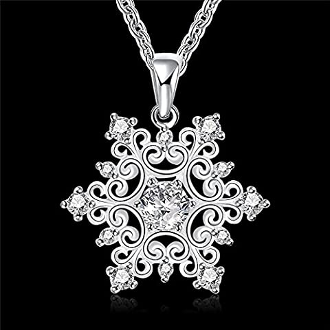 Fashion Jewelry snowflake pendant necklace with zircon beautiful Christmas gift cheap hot classic charm - Brighton Bronze Chandelier