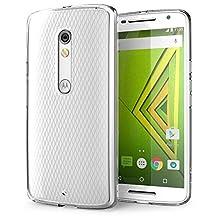 Motorola Moto X Play Case, iVoler Ultra [Slim Thin] Scratch Resistant TPU Rubber Soft Skin Silicone Protective Case Cover for Motorola Moto X Play Cases[Crystal Clear]