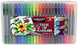 Sargent Art 22-1586 Washable 24ct Dual Markers, Brush, Bullet Tip