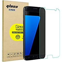 [3-Pack] Screen Protector for Samsung Galaxy S7, HD Tempered Glass Protective Film, High Definition (Stealth) Transparent for 5.1 Inch Samsung S7