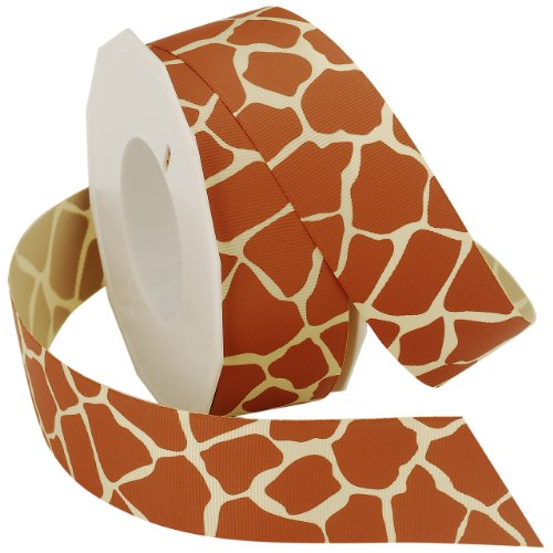 - Morex Ribbon Giraffe Grosgrain Ribbon, 1-1/2-Inch by 20-Yard, Natural