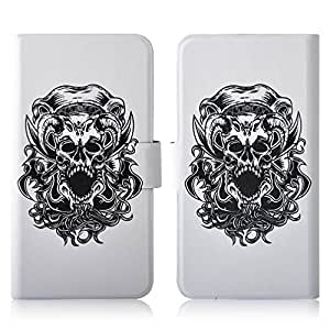 Generic Hot Terror Skull PU Leather New Flip Case Cover For Nokia 603 N603