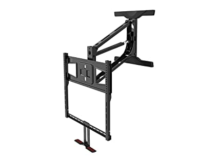 A Monoprice Above Fireplace PullDown FullMotion Articulating TV Wall Mount  Bracket  For