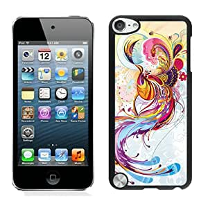 Lovely iPod Touch 5 Case Design with abstract phoenix in Black