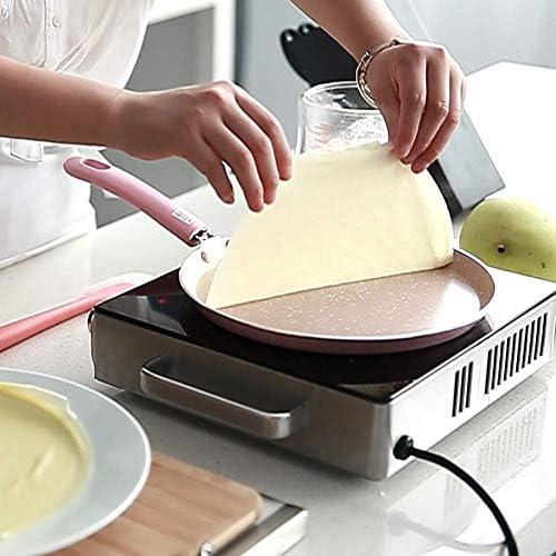 Axiu Poêles à frire Poêles à crêpes faciles à nettoyer, poêle antiadhésive, marmite à induction multi-usages, crêpes, barbecue, poêle à frire anti-adhésive en métal ustensile