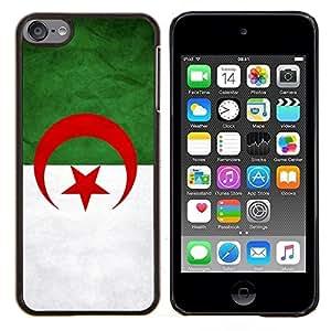 TECHCASE---Cubierta de la caja de protección para la piel dura ** Apple iPod Touch 6 6th Touch6 ** --Nacional bandera de la nación País Algeri